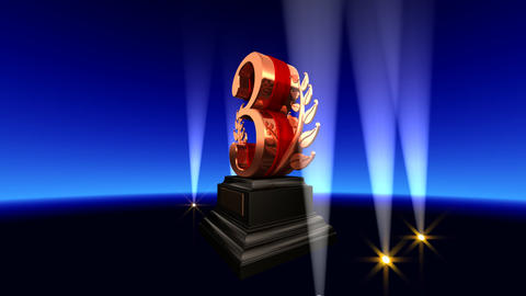 Number Trophy Prize Bb2 HD Stock Video Footage