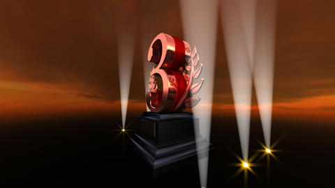 Number Trophy Prize Bb4sky HD Stock Video Footage