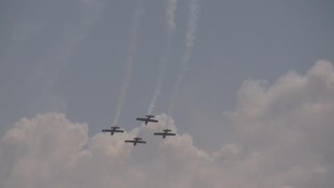 Aerobatics formation Stock Video Footage