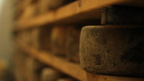 wine Blue cheese gouda bread grape food parmesan s Stock Video Footage