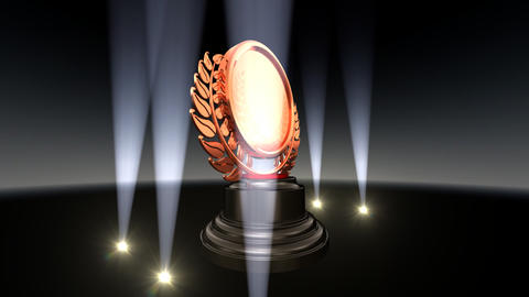 Medal Prize Trophy B2 HD Stock Video Footage