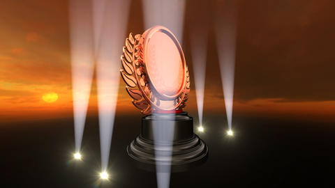 Medal Prize Trophy B4sky HD Stock Video Footage