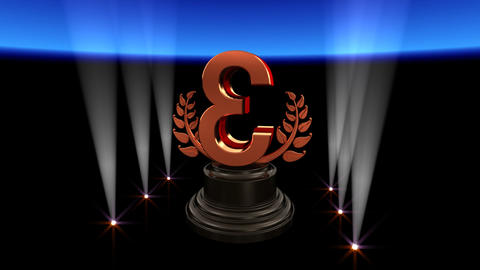 Number Trophy Prize C2 HD Stock Video Footage