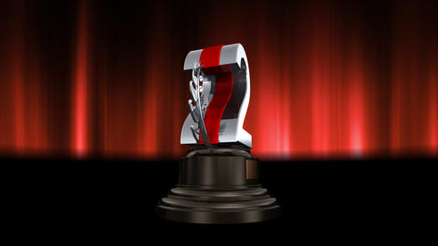 Number Trophy Prize C6 HD Stock Video Footage