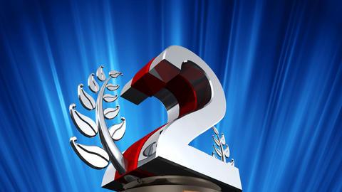 Number Trophy Prize D6 HD Animation