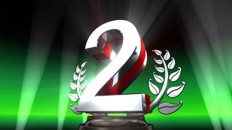 Number Trophy Prize E2 HD Stock Video Footage