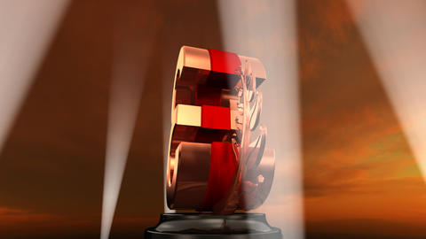 Number Trophy Prize E4sky HD Stock Video Footage