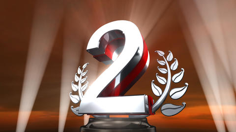 Number Trophy Prize E4sky HD Animation