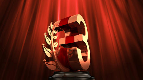 Number Trophy Prize E6 HD Stock Video Footage