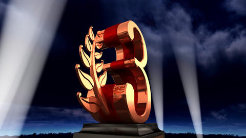 Number Trophy Prize Eb3sky HD Stock Video Footage