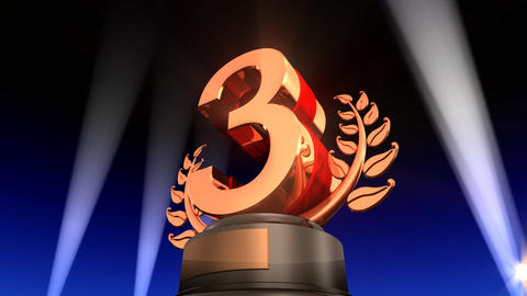 Number Trophy Prize F2 HD Stock Video Footage