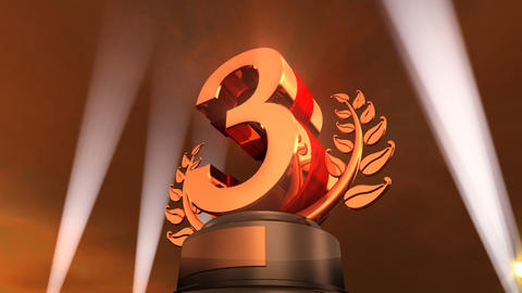 Number Trophy Prize F4sky HD Stock Video Footage