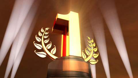 Number Trophy Prize F4sky HD Animation