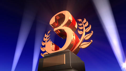 Number Trophy Prize Fb2 HD Animation