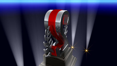 Number Trophy Prize Fb2 HD Stock Video Footage