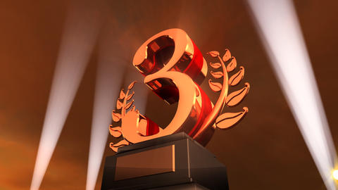 Number Trophy Prize Fb4sky HD Stock Video Footage