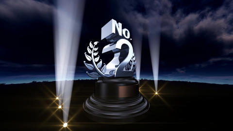 Number Trophy Prize No B3sky HD Animation