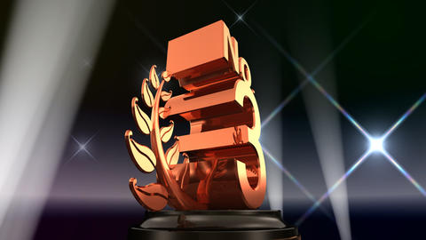 Number Trophy Prize No E5Flash HD Stock Video Footage