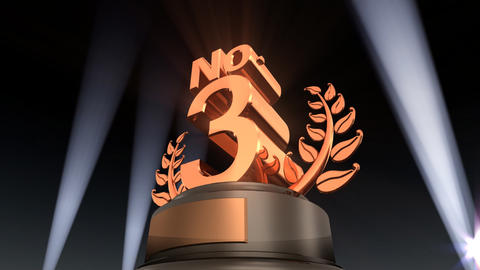Number Trophy Prize No F2 HD Stock Video Footage