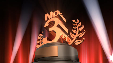 Number Trophy Prize No F6 HD Stock Video Footage