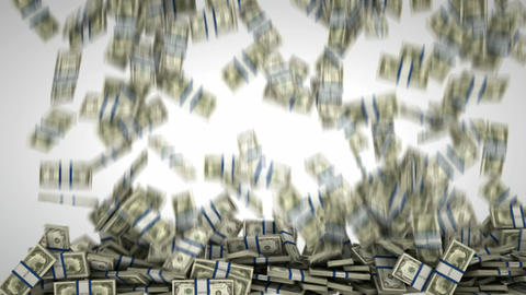Filling the frame with US dollar bundles. Wealth and money Stock Video Footage