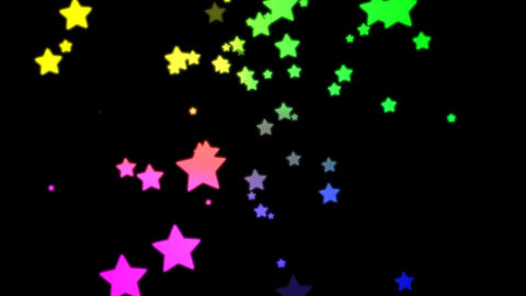 Loopable Falling Stars Animation with Alpha channel Stock Video Footage