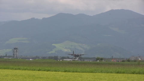 Lockheed C 130 Hercules Stock Video Footage