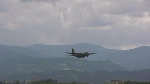 Lockheed C 130 Hercules Stock Video Footage