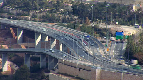 Jerusalem traffic 1 Stock Video Footage