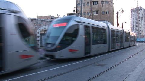 Jerusalem tram 2 Footage