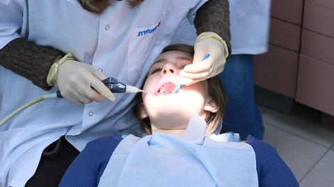 teenage dentist orthodontist orthodontic doctor medical... Stock Video Footage