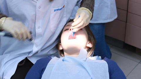 teenage dentist orthodontist orthodontic doctor medical... Stock Video Footage