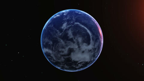 Earth&Moon Stock Video Footage