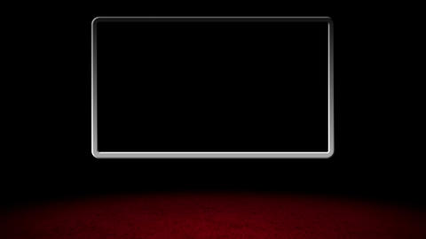 Basic Red Carpet Virtual Studio with Stylized GS Design 02 Stock Video Footage