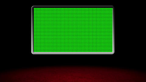 Basic Red Carpet Virtual Studio with Stylized GS Design 06 Stock Video Footage
