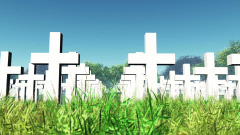 Cemetery 01 Stock Video Footage