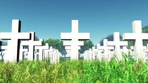 Cemetery 01 Stock Video Footage