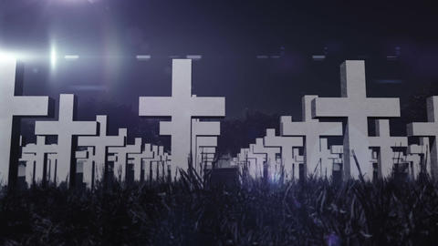 Cemetery 03 Stock Video Footage