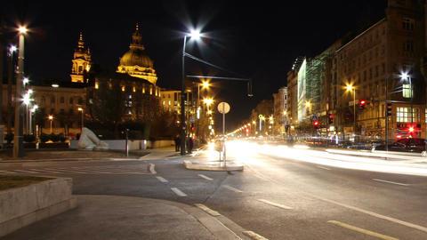 European City Timelapse 65 pan Stock Video Footage