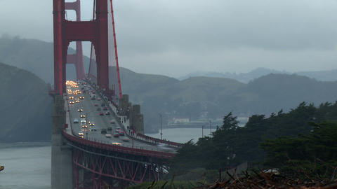 Golden Gate Bridge Traffic Time-lapse Footage