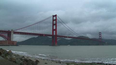 Golden Gate Bridge Time-lapse Footage