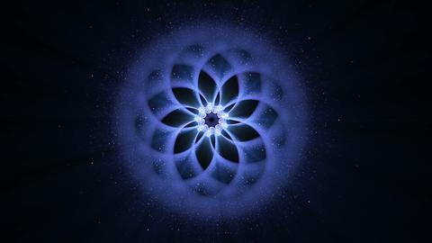 Blue Ornamental Round Pattern, Mandala Animation, Festive Background Animation