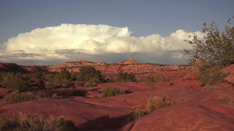 Schafer Canyon Majestic Buttes Storm Approaching Canyonlands Footage