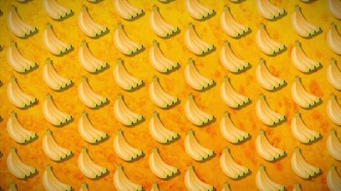 4k seamless pattern banan Animación
