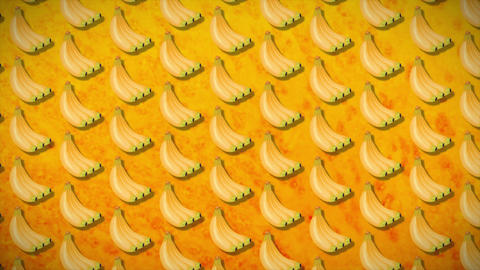 4k seamless pattern banan CG動画素材