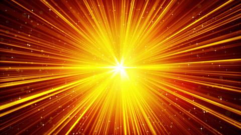 yellow shining light rays and stars loopable background 4k (4096x2304) Animation