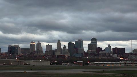Kansas City Missouri Clay County Downtown City Skyline Sunrise Footage