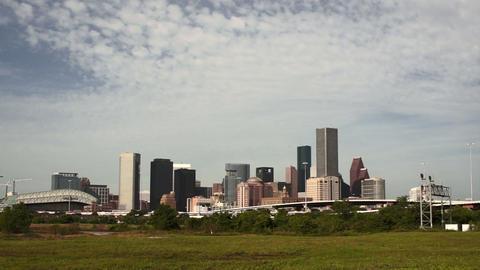 Houston Skyline Southern Texas Big City Downtown Metropolis Footage