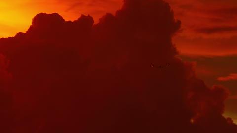 Sunset flight Footage