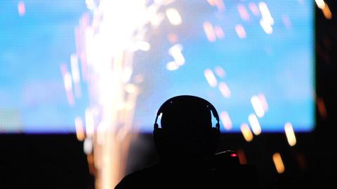 Fireworks on stage 02 Footage